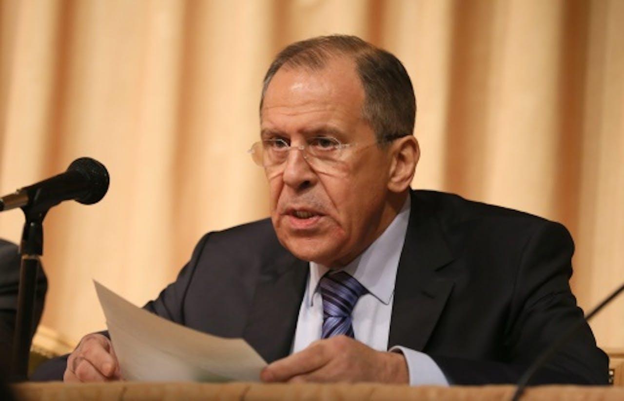De Russische minister Sergej Lavrov van Buitenlandse Zaken (EPA)