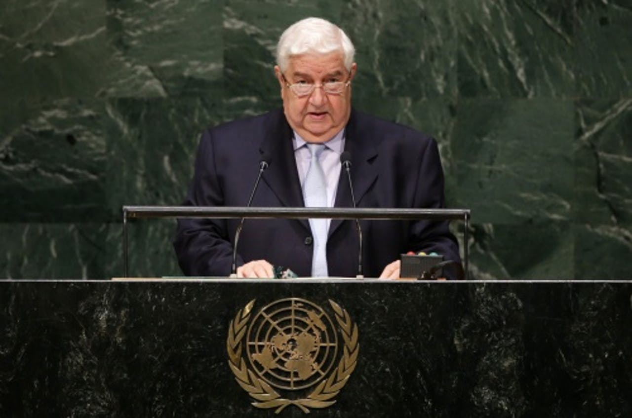 Walid al-Moualem. EPA