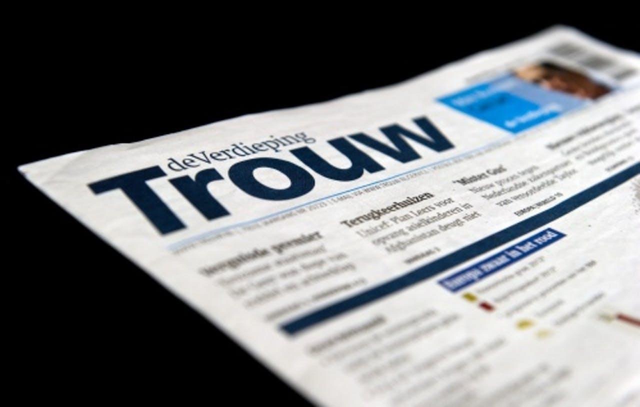 Van de landelijke kranten ziet alleen Trouw zijn oplage stijgen. ANP