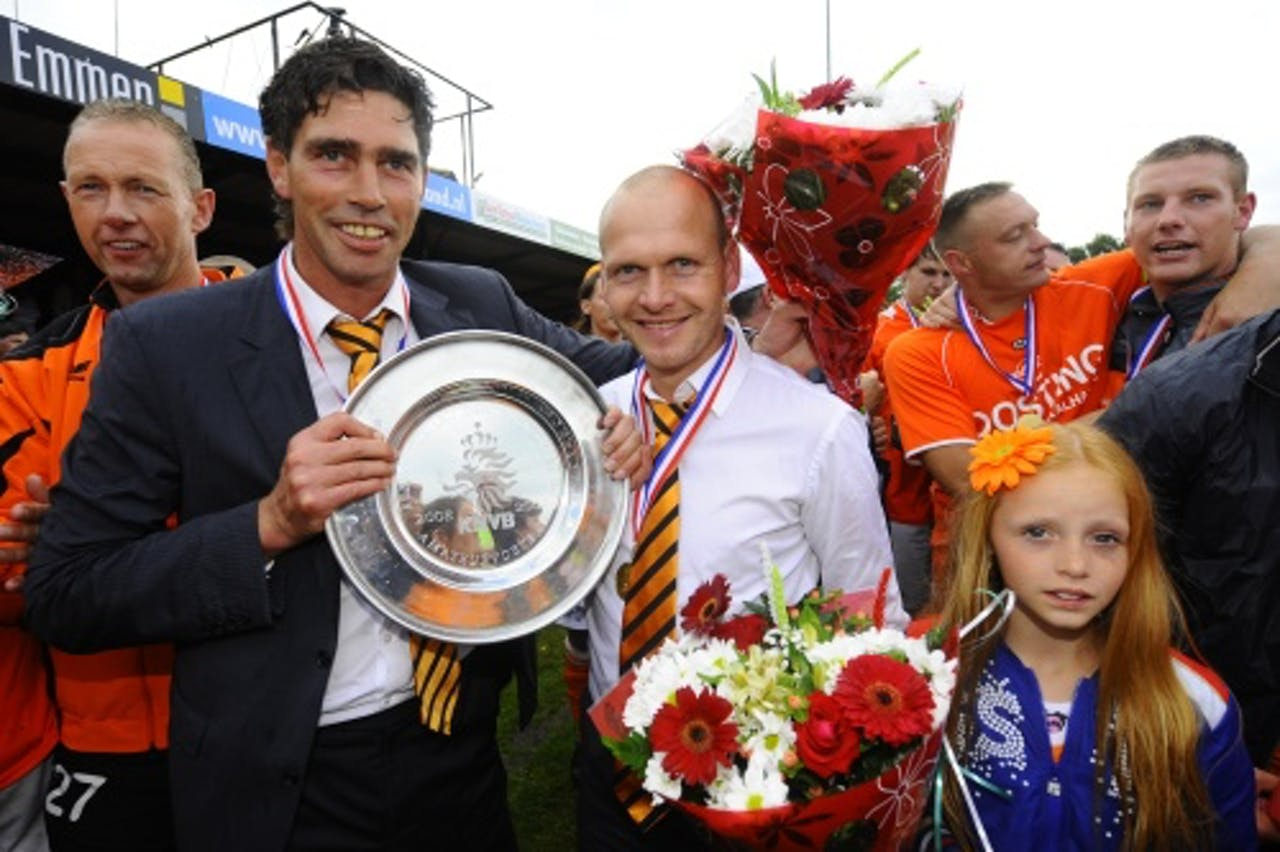 Andre Paus als coach van WKE Emmen. ANP