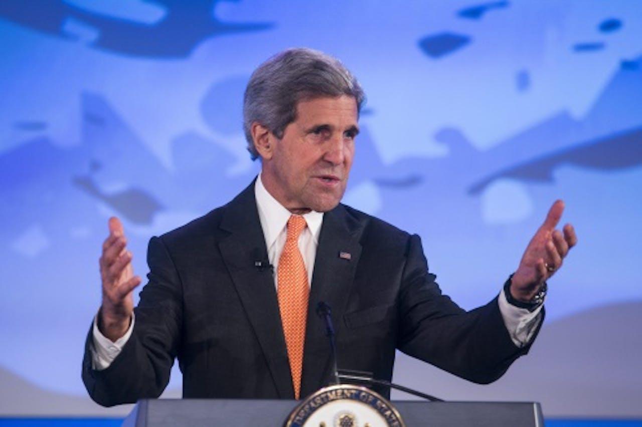 John Kerry, de minister van Buitenlandse Zaken van de VS. EPA