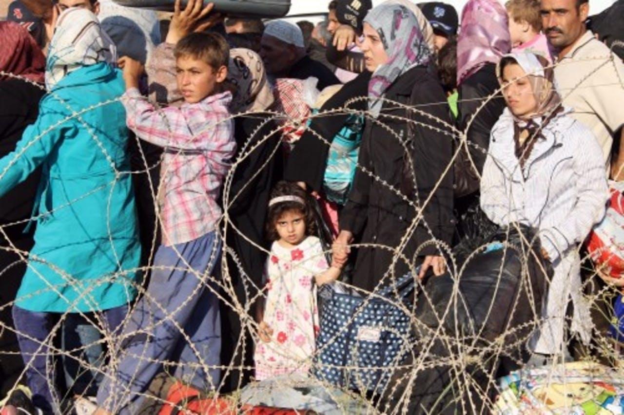 Syrische vluchtelingen in Turkije. EPA