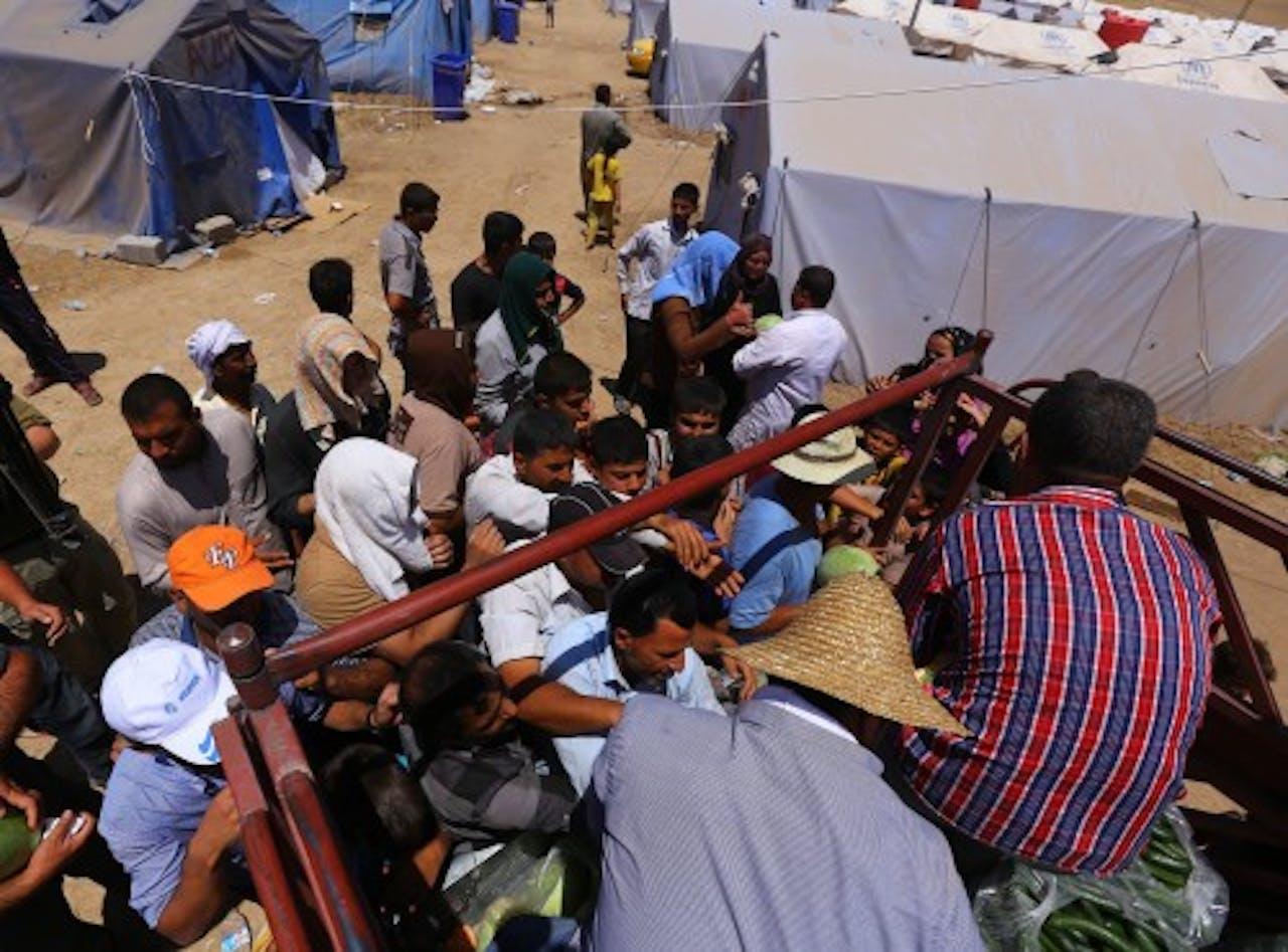Vluchtelingen in Arbil.EPA