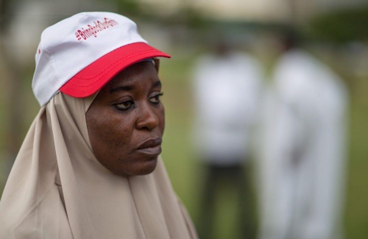 Protest in Nigeria tegen Boko Haram. EPA