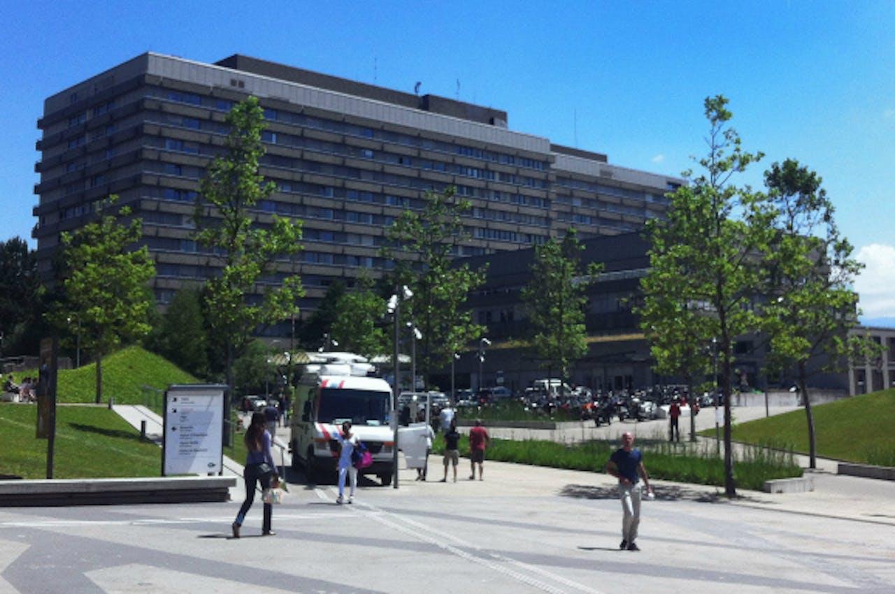 De waarschijnlijke nieuwe verblijfplaats van Schumacher: het universiteitsziekenhuis in Lausanne