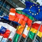 europa stock foto vlaggen