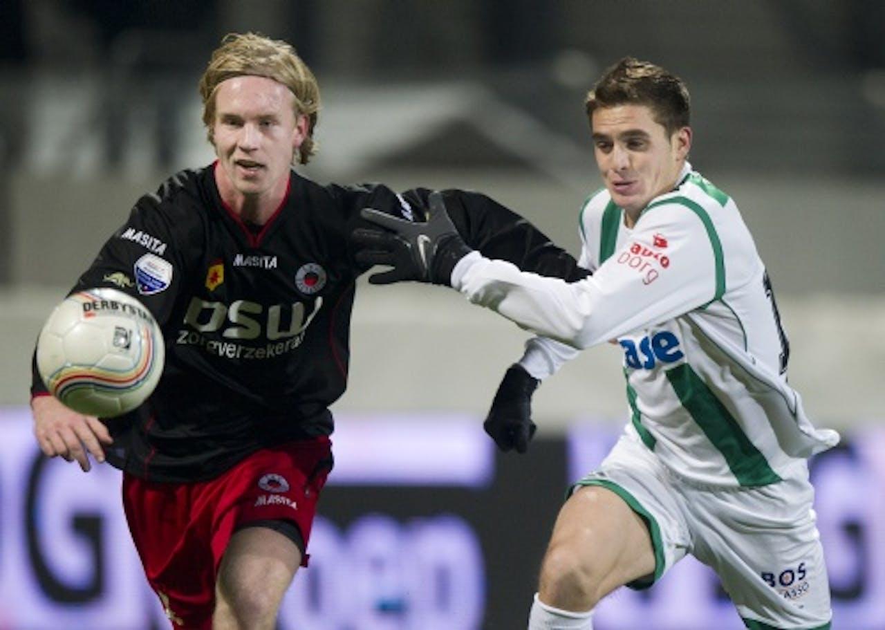 Daan Bovenberg (links), in 2010 ook in actie voor Excelsior. ANP