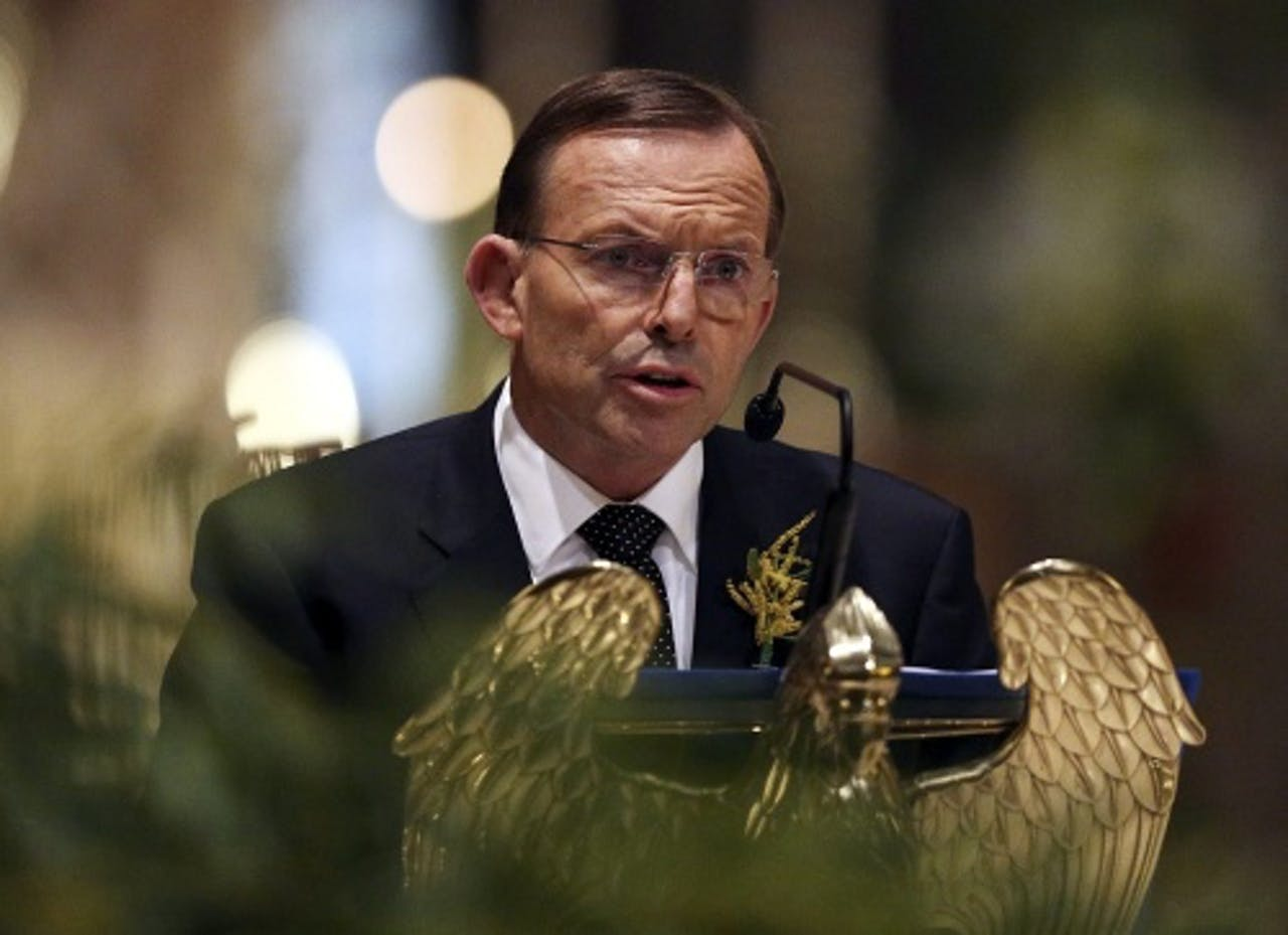 Premier Tony Abbott. EPA