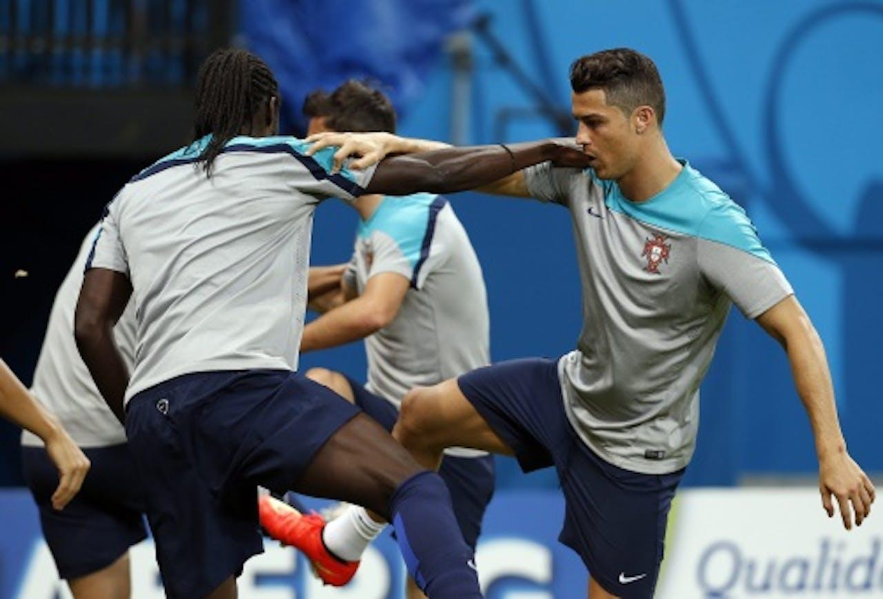 Eder en Ronaldo. EPA