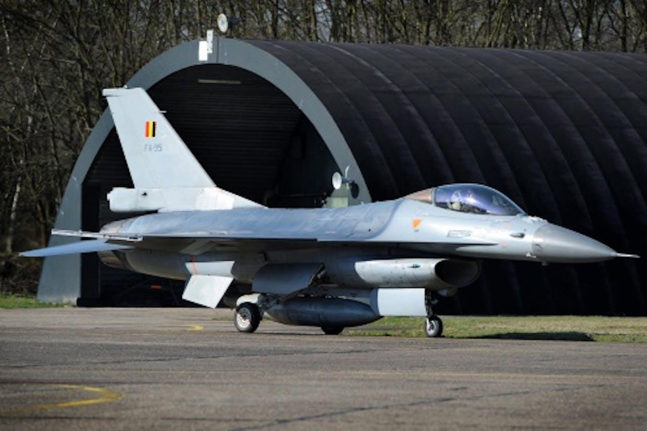 Een Belgische F-16. EPA