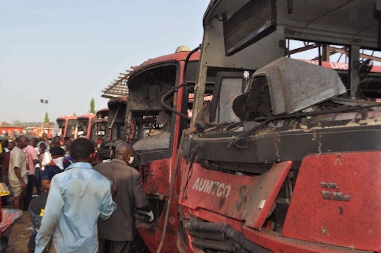 Archiefbeeld van aanslag in Abuja twee weken geleden. EPA