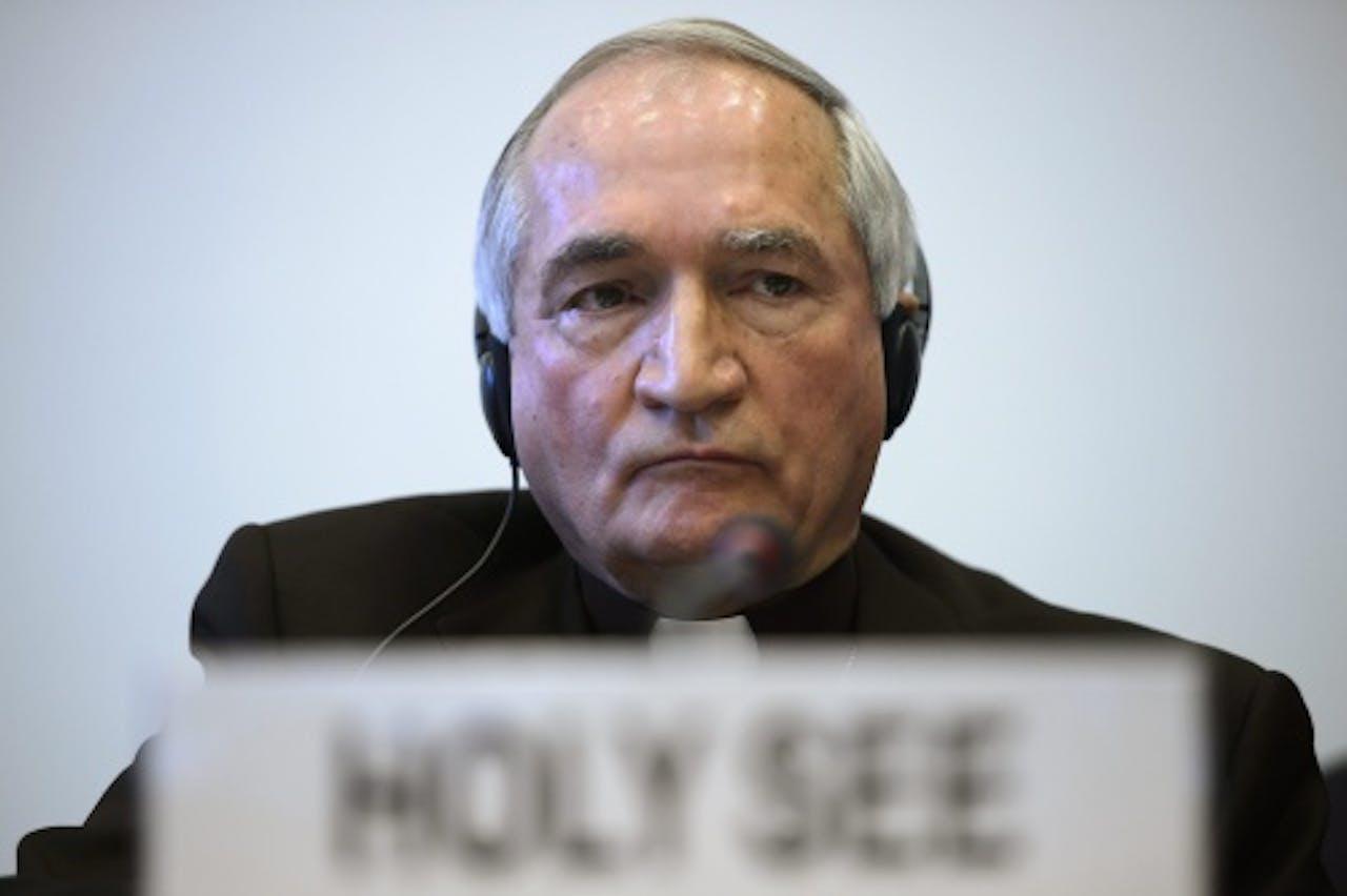 De VN-ambassadeur van het Vaticaan. EPA
