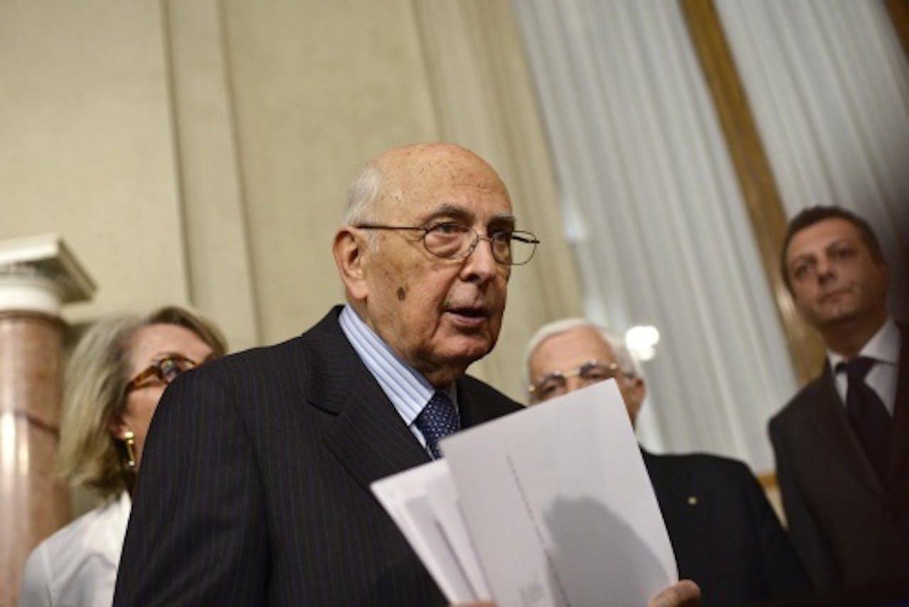 Giorgio Napolitano. EPA