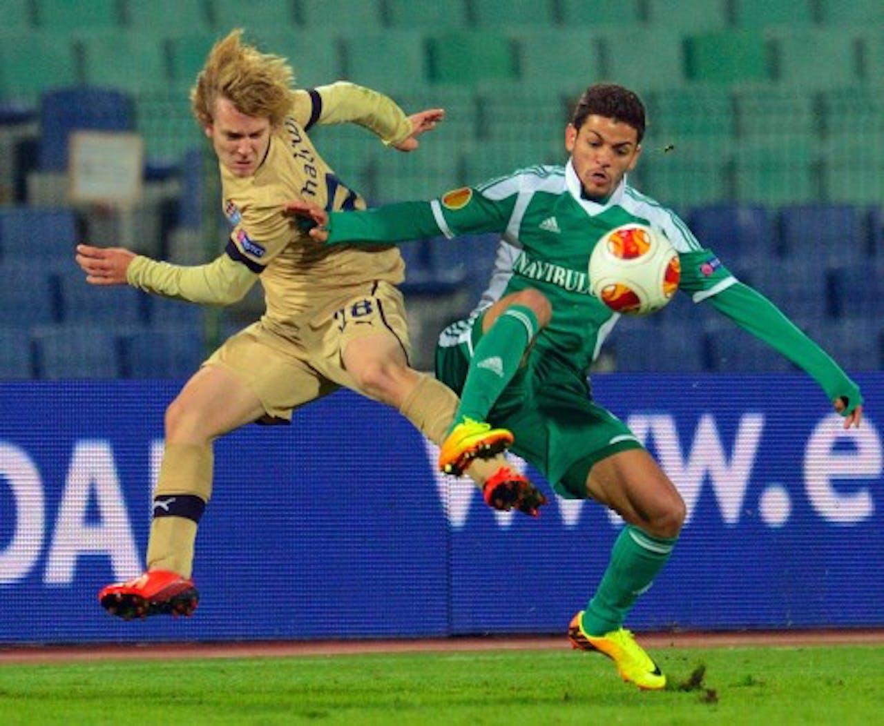 Alen Halilovic (L) van Dinamo Zagreb. EPA