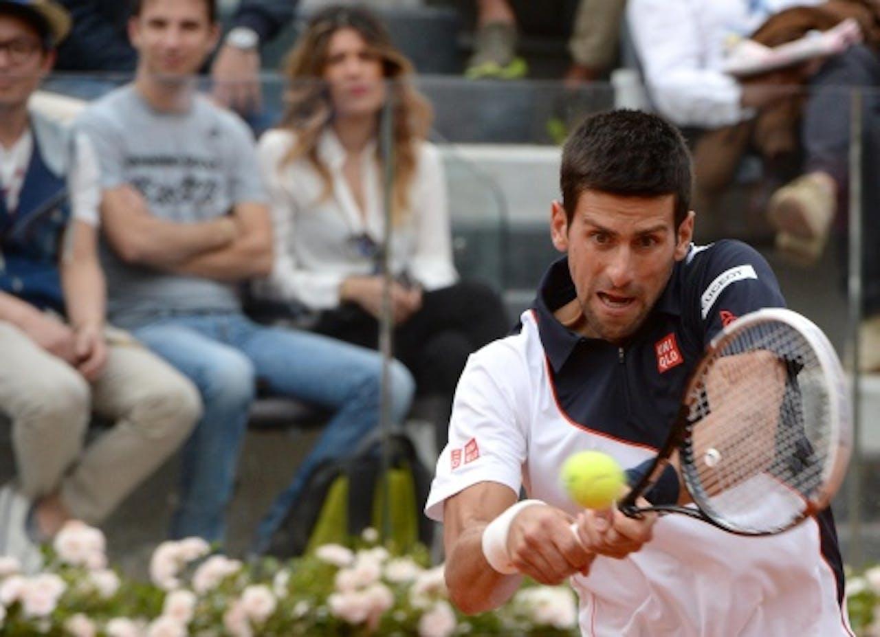 Novak Djokovic tijdens duel met Ferrer. EPA
