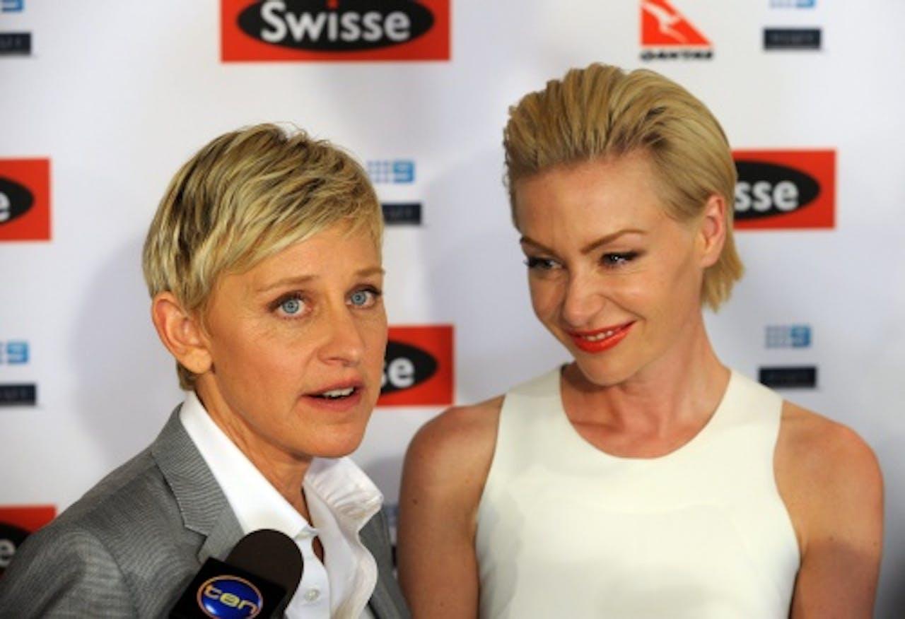 Ellen DeGeneres (L). EPA