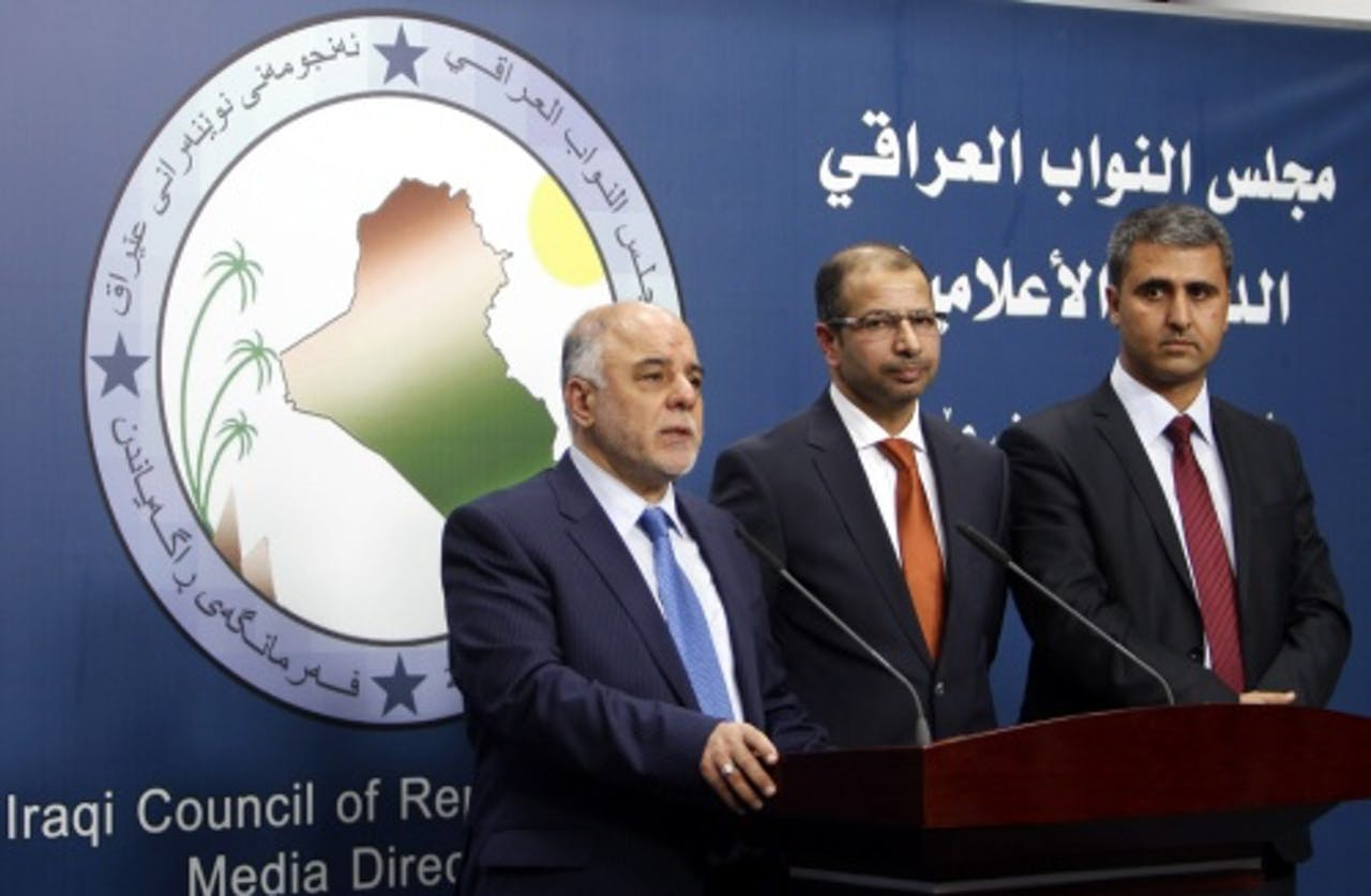 Haider al-Abadi (L). EPA