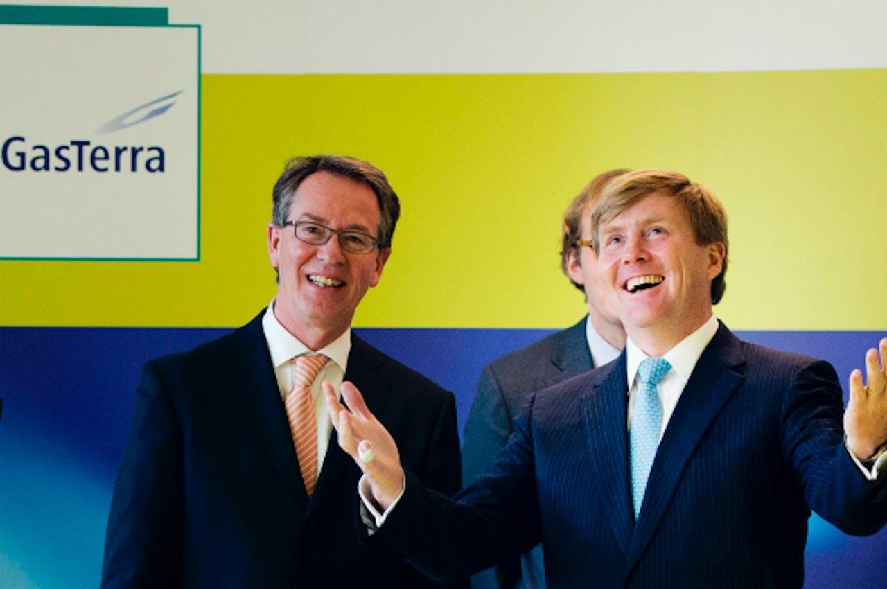 Koning Willem-Alexander en Gertjan Lankhorst, CEO van GasTerra