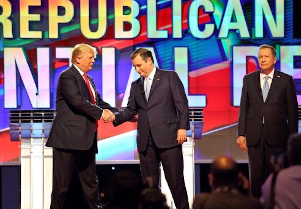 Ted Cruz (M), John Kasich (R). EPA