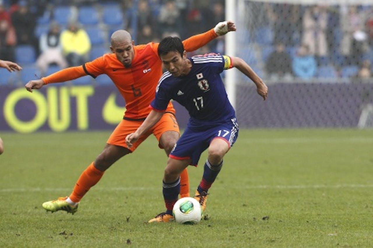 Makoto Hasebe in actie tegen het Nederlands Elftal. ANP