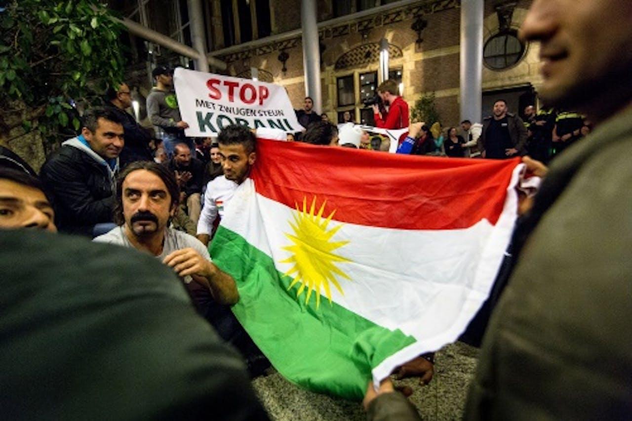 Koerdische demonstranten in Den Haag. ANP