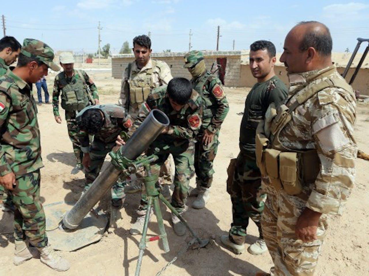 Archiefbeeld van Koerdische strijders. EPA