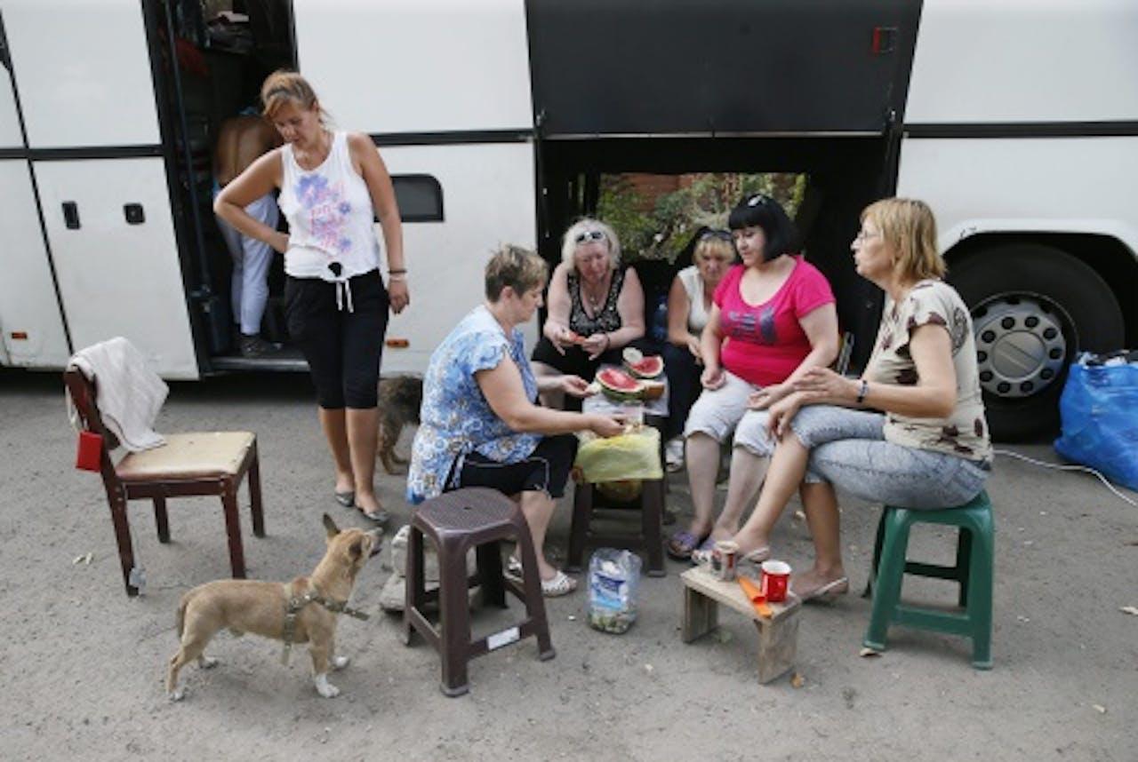 Oekraïense vluchtelingen. EPA