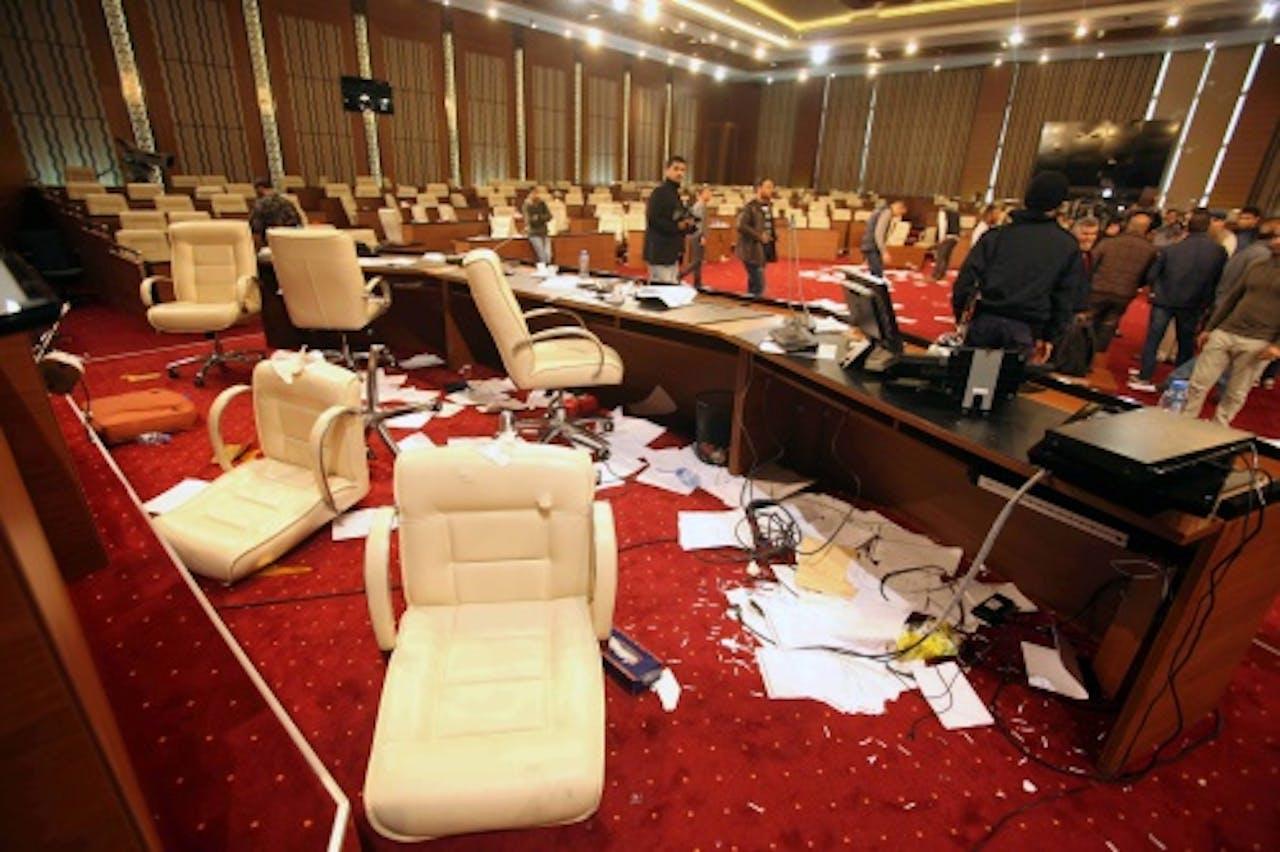 Archiefbeeld: in maart werd het parlementsgebouw ook bestormd. EPA