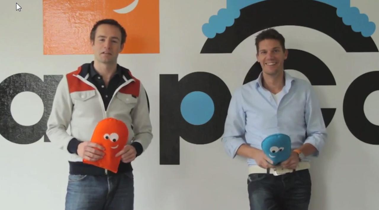 Pascal Ontijd (l) en Victor van Tol van Snappcar