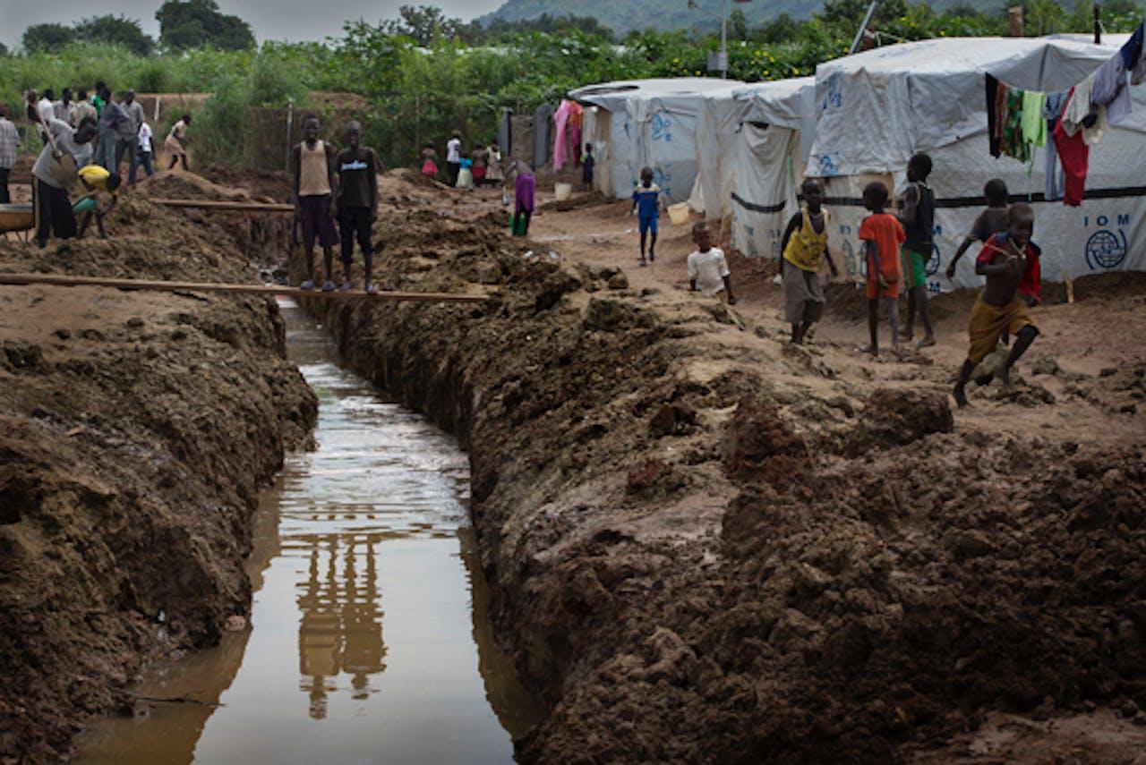 Vluchtelingenkamp in Zuid-Soedan