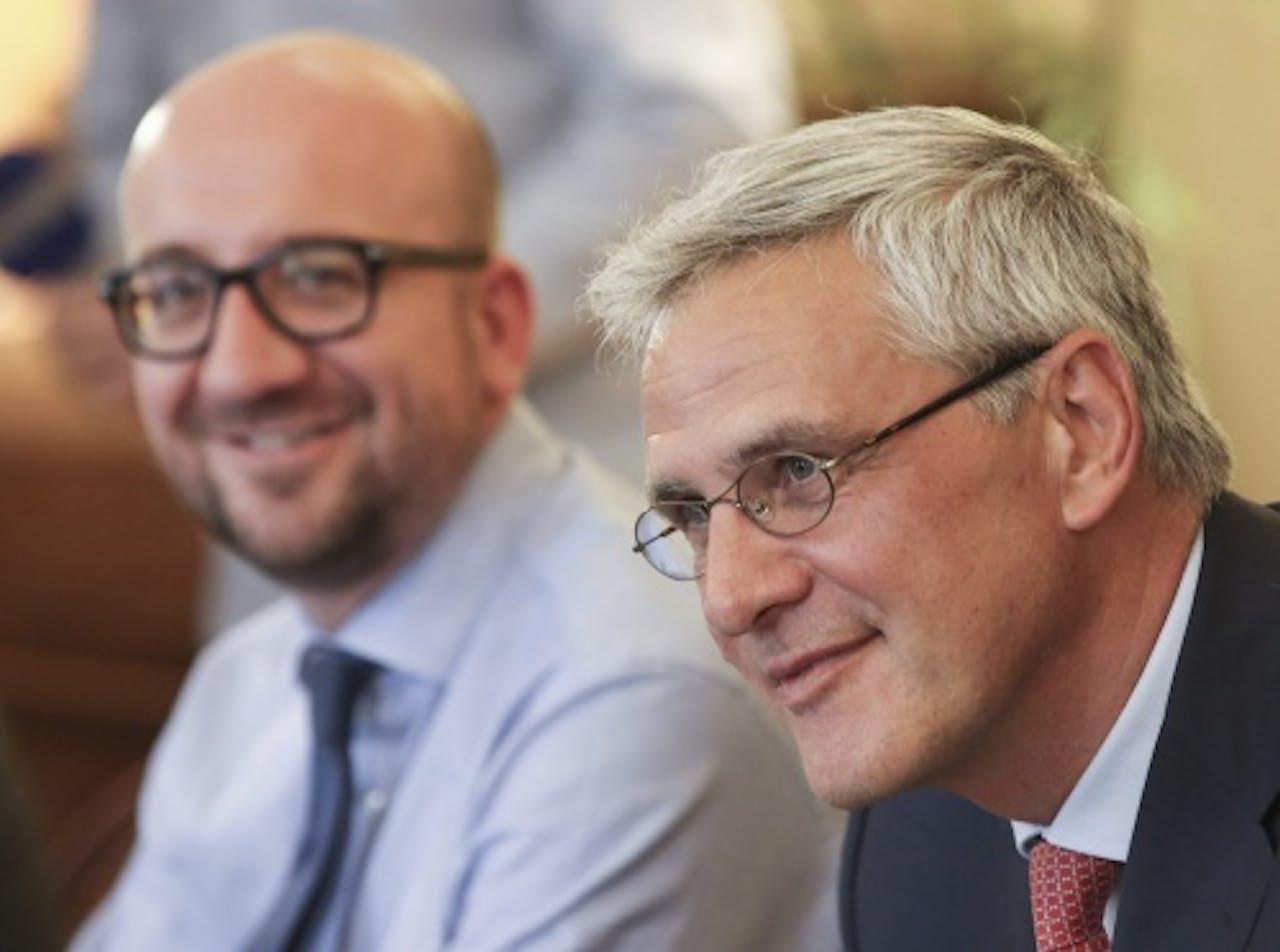 EPA formateurs Charles Michel (L) en Kris Peeters (R)