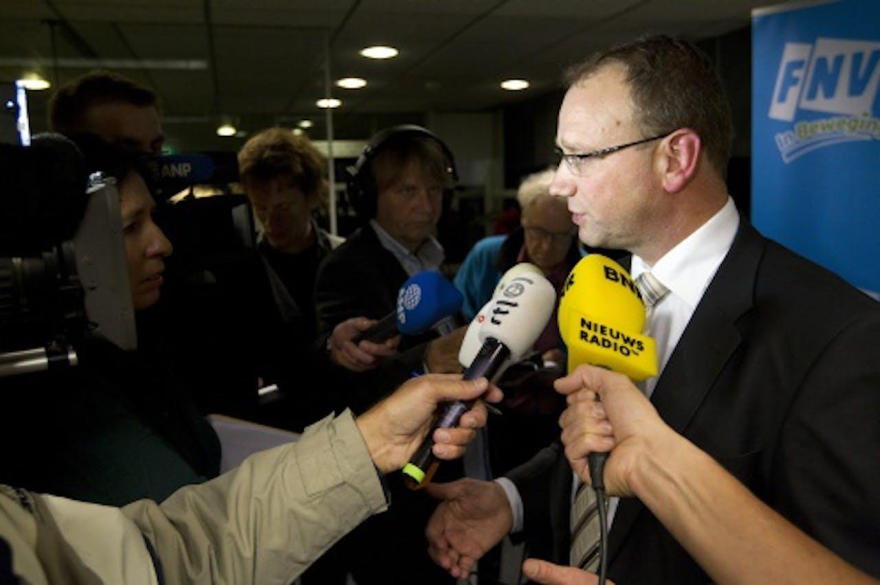 FNV-voorzitter Ton Heerts. ANP