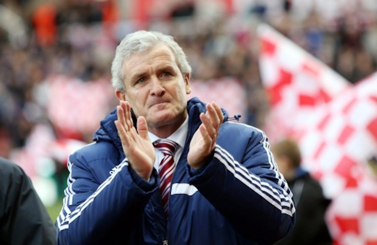 Archiefbeeld manager Mark Hughes van Stoke City. EPA