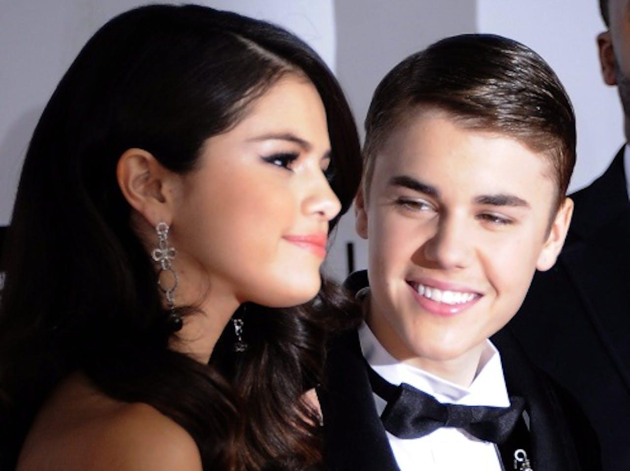 Selena en Justin in gelukkiger tijden. EPA