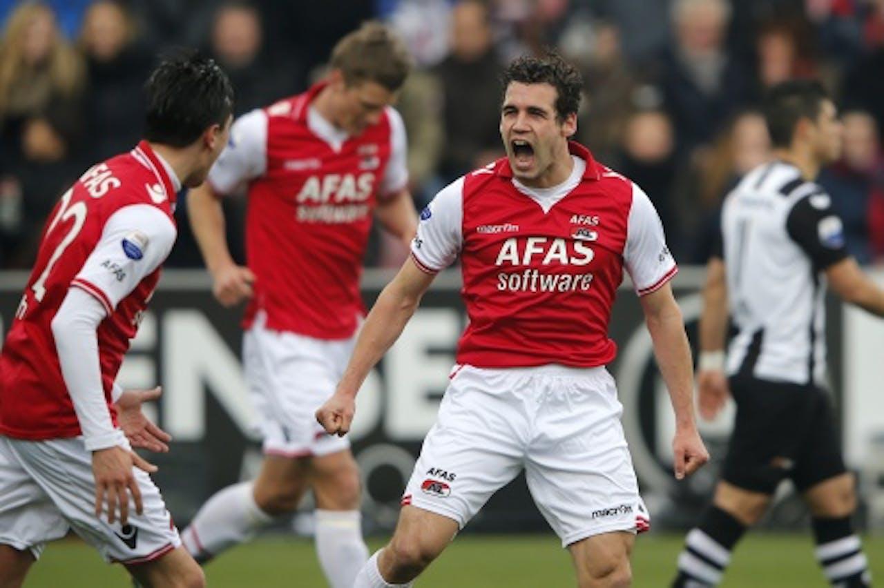 Archieffoto van AZ-speler Dirk Marcellis (R).