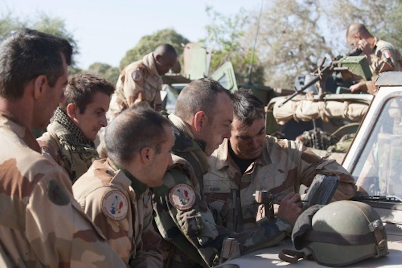 Franse militairen in Mali. EPA