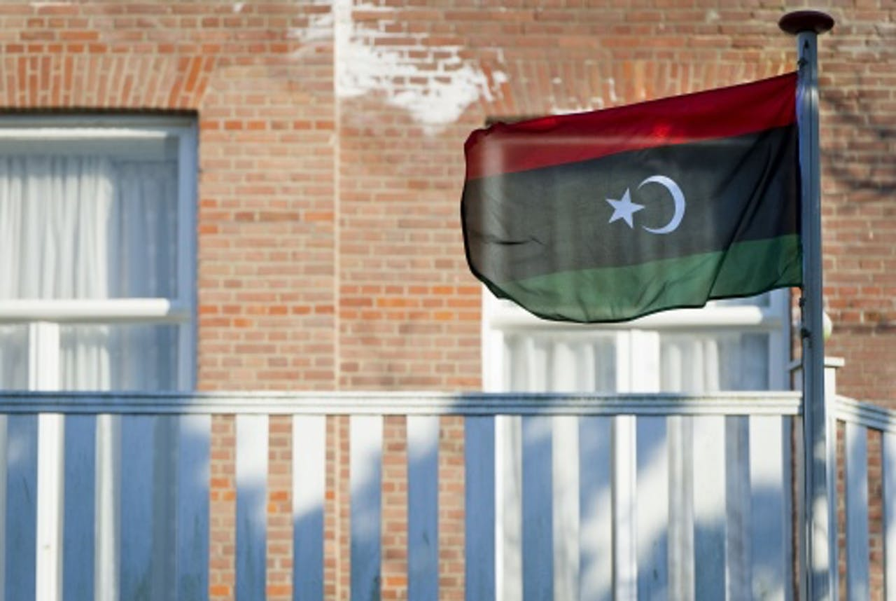 De Libische vlag. ANP