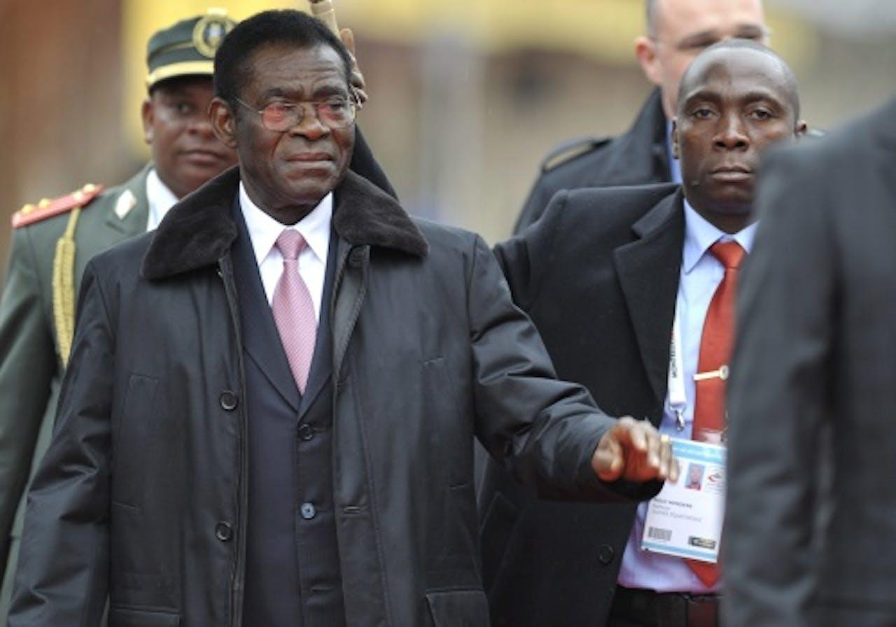 (Archieffoto 2010). Teodorín Obiang Nguema (L). EPA