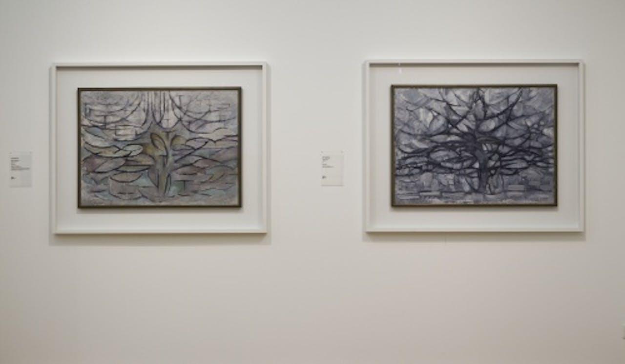 Werk van Piet Mondriaan. ANP