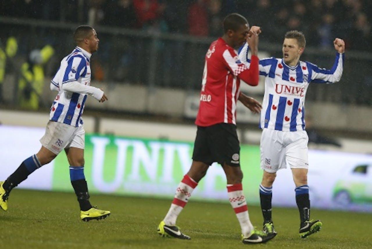Marcelo (M) van PSV na een nederlaag tegen sc Heerenveen. ANP