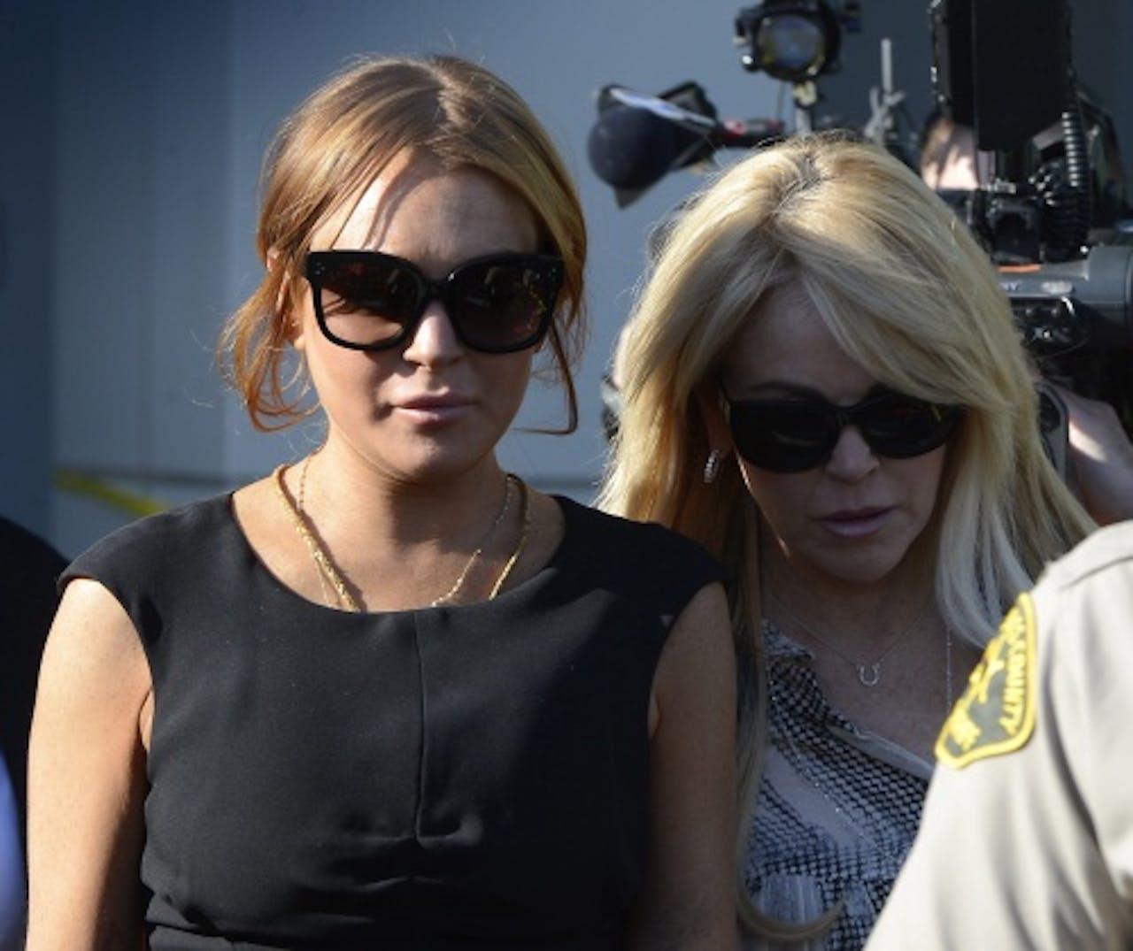 Lindsay (L) en Dina Lohan. EPA