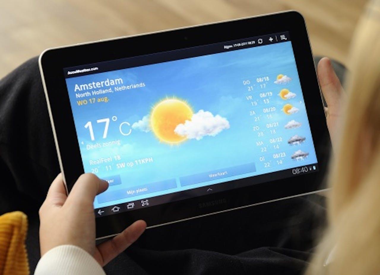Een tablet van Samsung. ANP