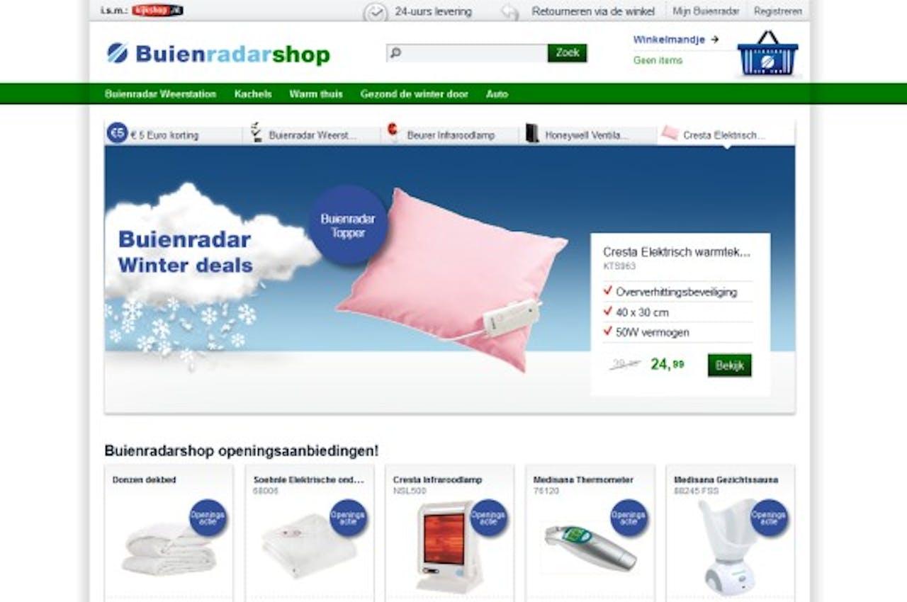 Buienradar opent webwinkel in samenwerking met Kijkshop