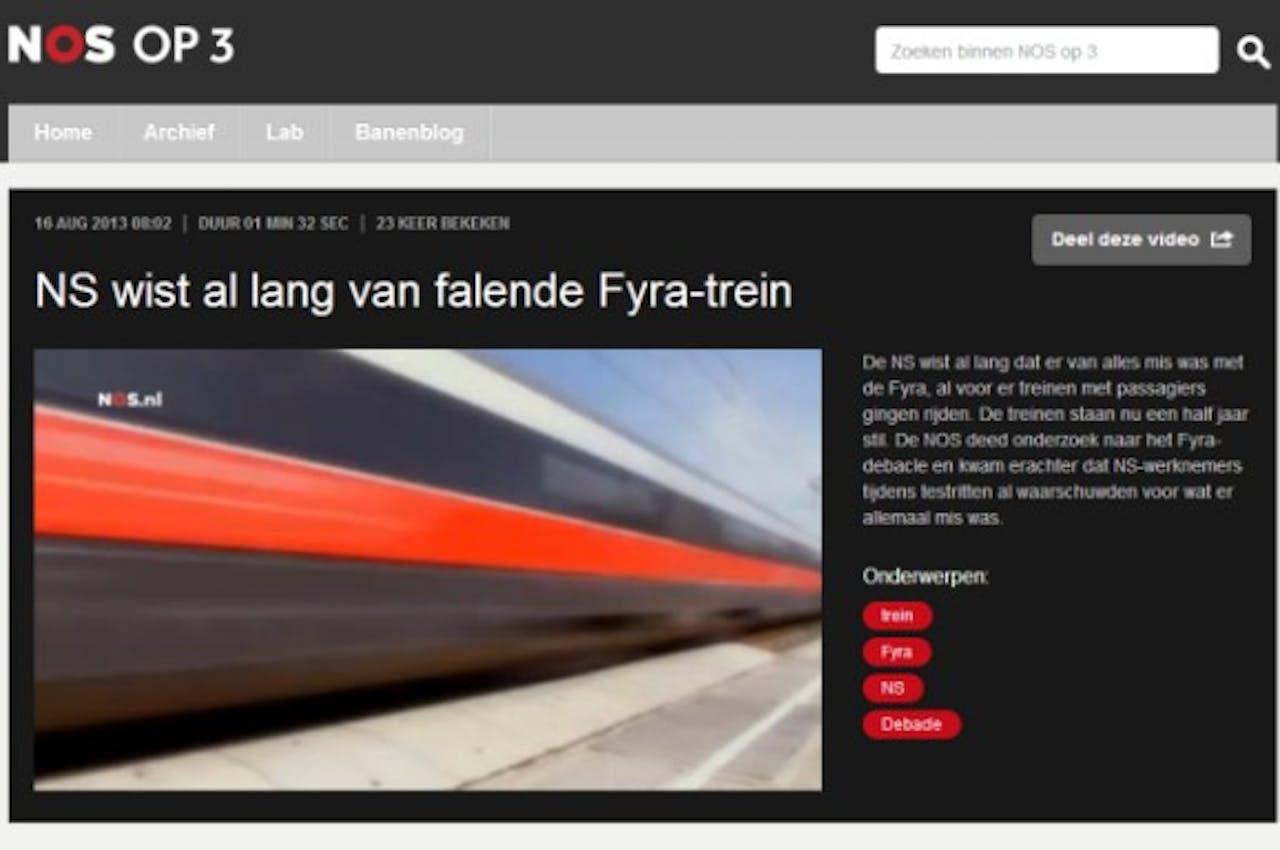 Videomateriaal NOS beschikbaar voor mediapartners