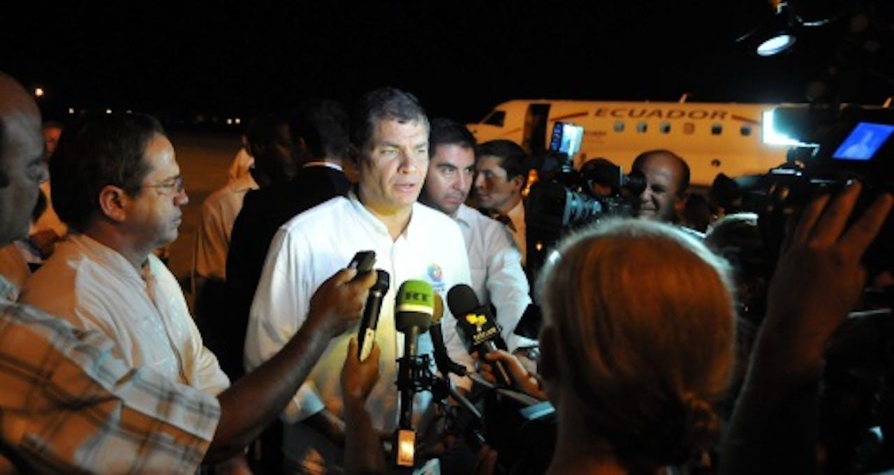 President Rafael Correa. EPA