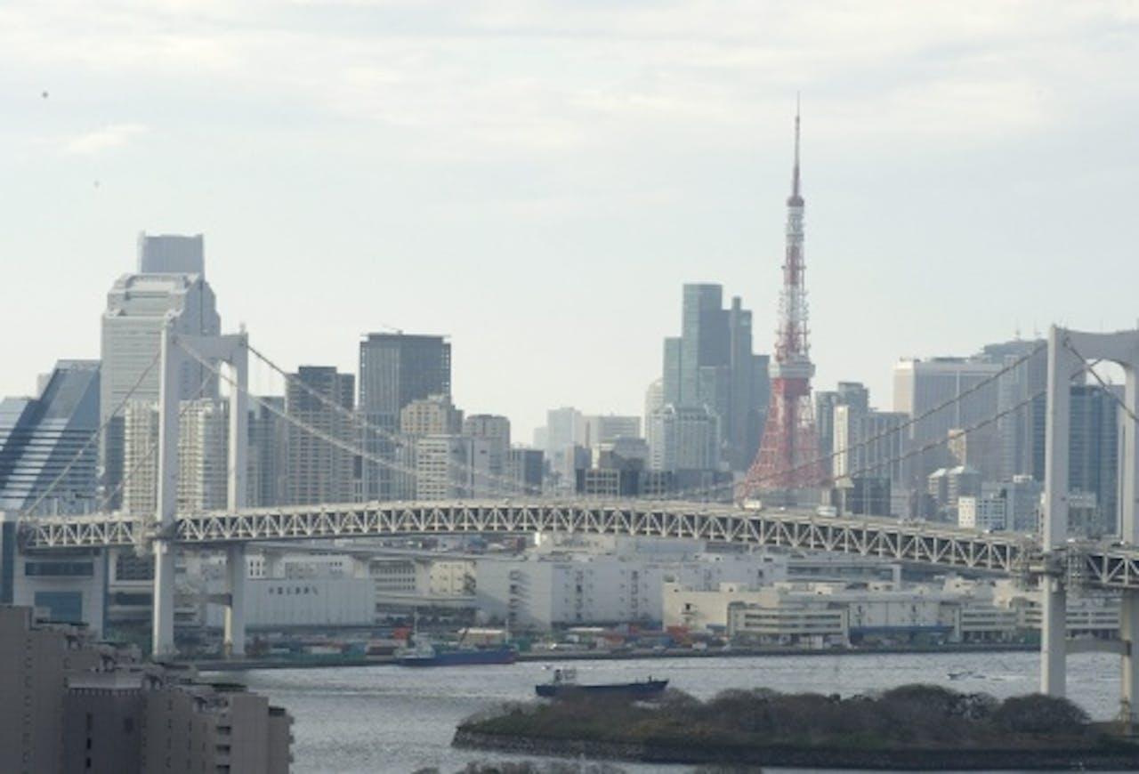 De skyline van Tokio. EPA