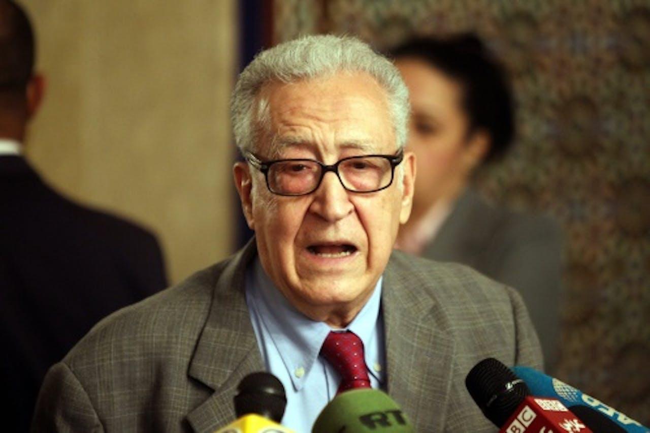 Lakhdar Brahimi. EPA