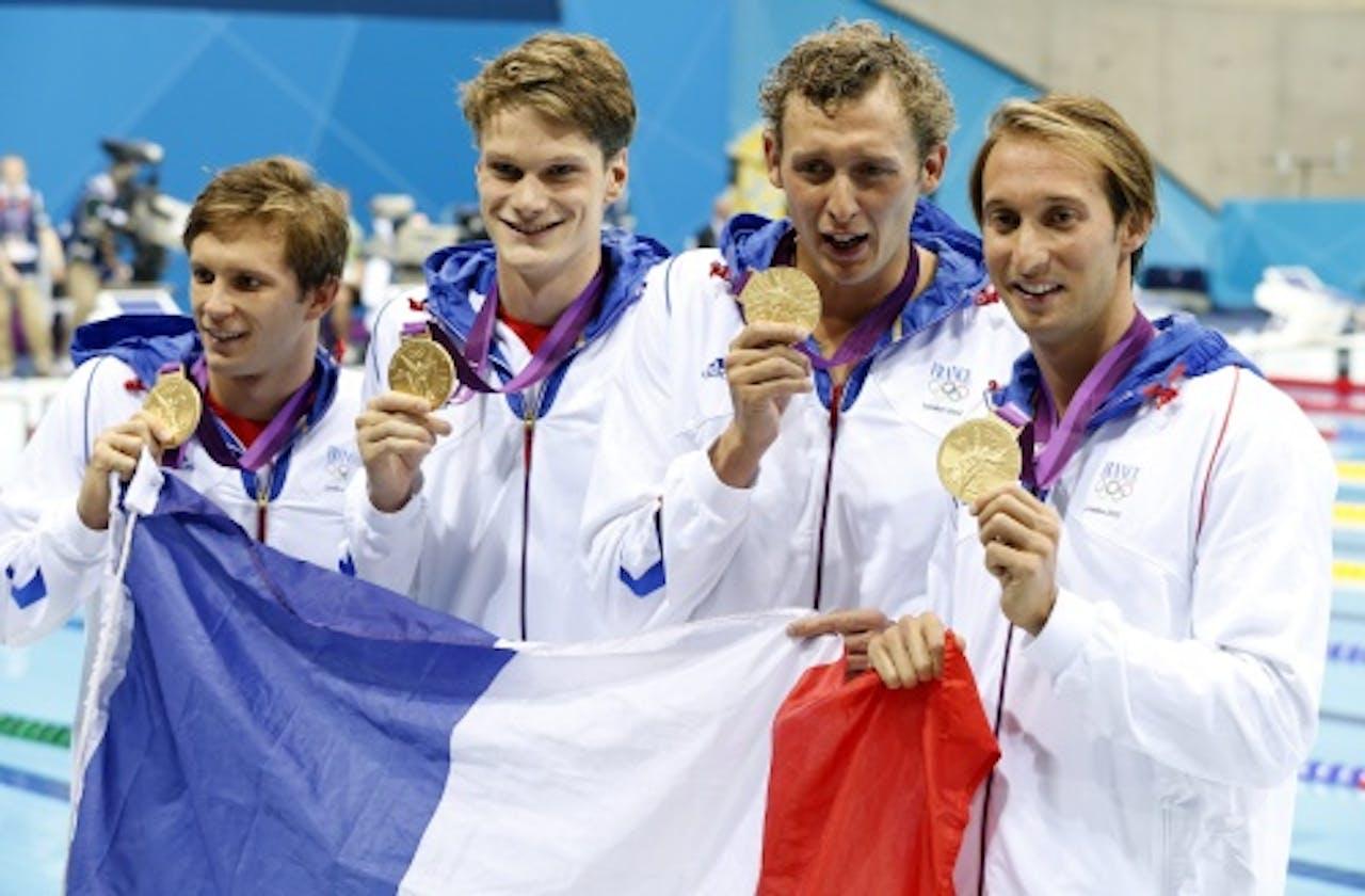 Yannick Angel (tweede van links).EPA