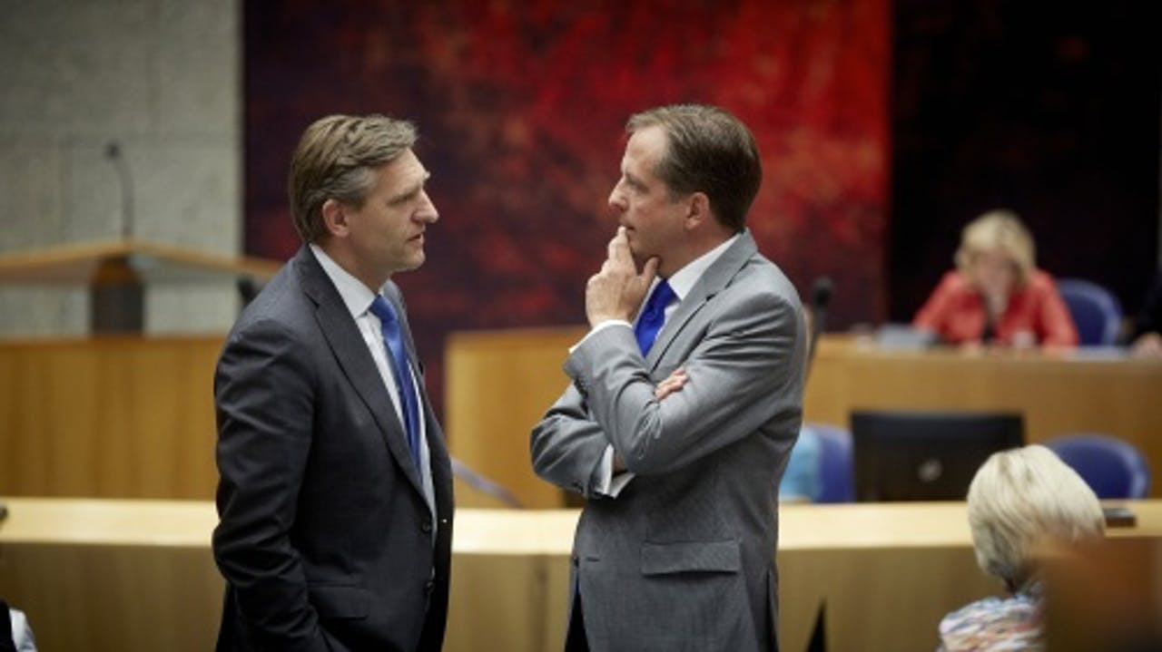 Alexander Pechtold en Sybrand Buma. ANP