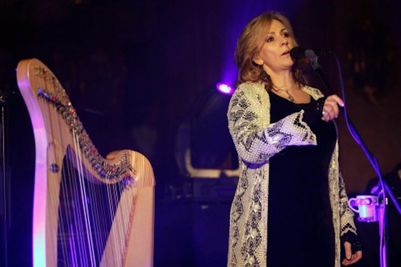 Clannad-zangeres Moya Brennan tijdens een solo-optreden. EPA